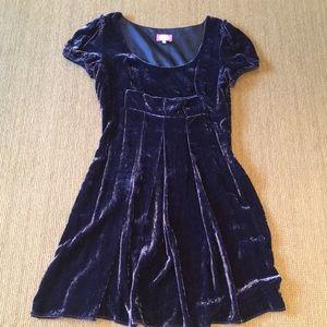 Blumarine  Blue Girl purple velvet dress